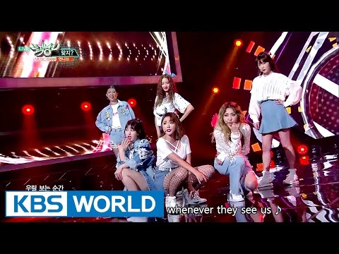 Unnies - Right? | 언니쓰 - 맞지? [Music Bank Hot Debut / 2017.05.12]