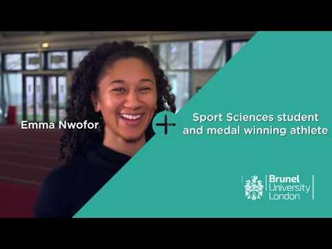 Sport Sciences student and medal winning athlete, Emma Nwofor