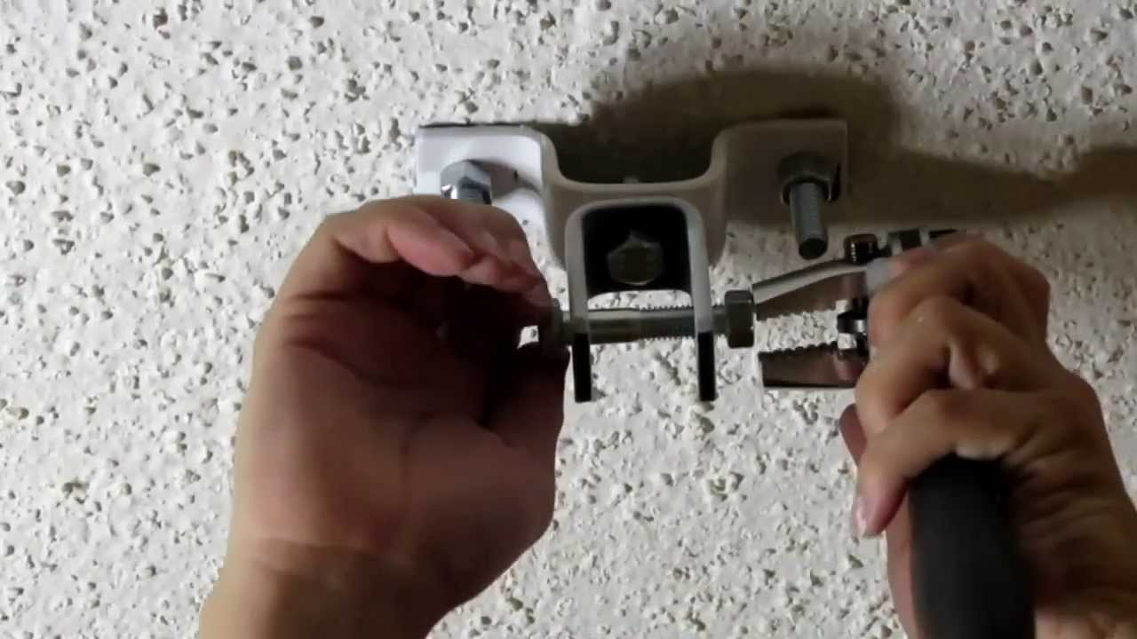 How To Install A Punching Bag Concrete Ceiling Youtube