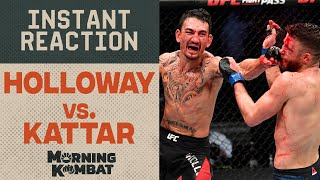UFC on ABC 1 Results: Max Holloway vs. Calvin Kattar   Instant Reaction   MORNING KOMBAT