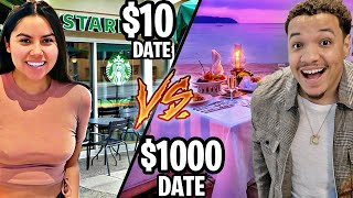 $10 DATE vs $1,000 DATE (24 Hour Challenge)