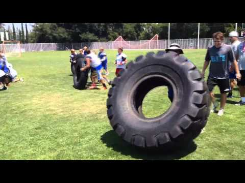 Camper vs Coaches Tire Flip Relay WOD