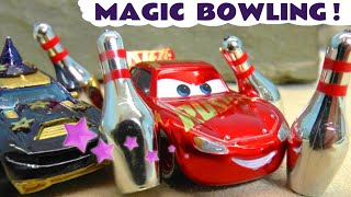 Hot Wheels Bowling with Disney Cars McQueen and Family Friendly Marvel & DC Comics Superheroes