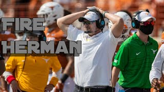 Texas Longhorns vs Oklahoma - Red River Rivalry - Fire Tom Herman