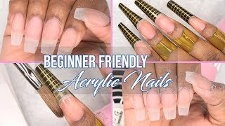 Acrylic Nails Tutorial - How to - Acrylic Nails using Nail Forms - For Beginners