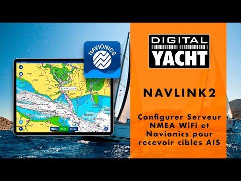 Configurer Serveur NMEA WiFi et Navionics pour recevoir cibles AIS