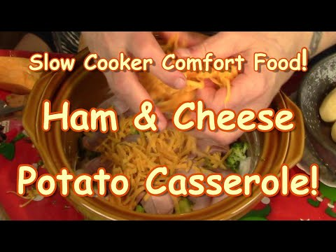 Slow Cooker Potato Ham&Cheese Casserole!