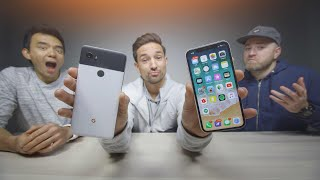 iPhone X vs Pixel 2 - Reading Mean Comments ft. UnboxTherapy & Dave2D