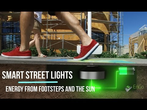 World's first Smart Street Lights powered by footsteps and the Sun. Besides efficient light this solution also provides WiFi connection, charging station and real time data via Smart Sensors.All that by using clean and free energy sources!