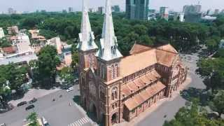 Ho Chi Minh city (Saigon) Vietnam 4K aerial drone video with Phantom 3 Pro