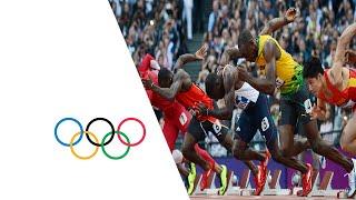 Bolt, Blake & Gatlin Win 100m Semi-Finals - London 2012 Olympics