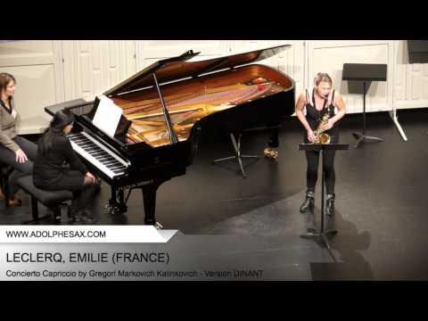 Dinant 2014 - Leclercq, Emilie - Concerto Capriccio by Gregori Markovich Kalinkovich