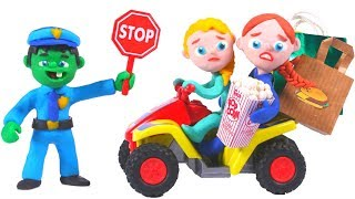 FUNNY KIDS & THE POLICE ❤ Play Doh Cartoons For Kids