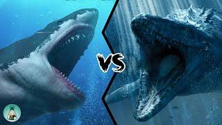 MEGALODON VS MOSASAURUS - Who Would Win?