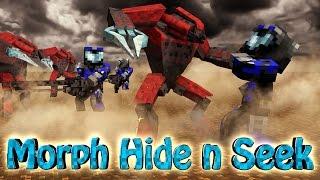 Minecraft Mods | MORPH HIDE AND SEEK - HALO MOD! (Spartans, Halo 4, Warthogs)