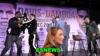 Watch Trash Talk At Faceoff! Gervonta Davis vs Gamboa - EsNews Boxing