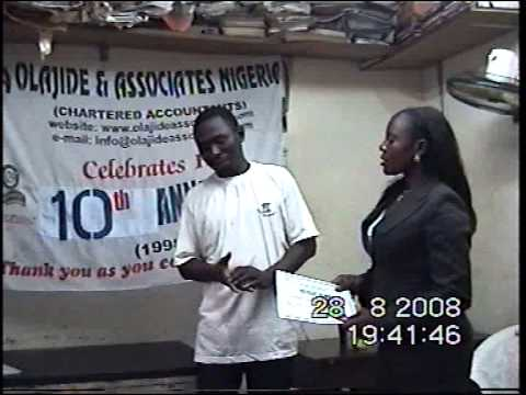 Olajide & Associates 10th Anniversary, Merit Award