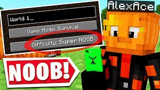 MINECRAFT HAS A SUPER NOOB DIFFICULTY..