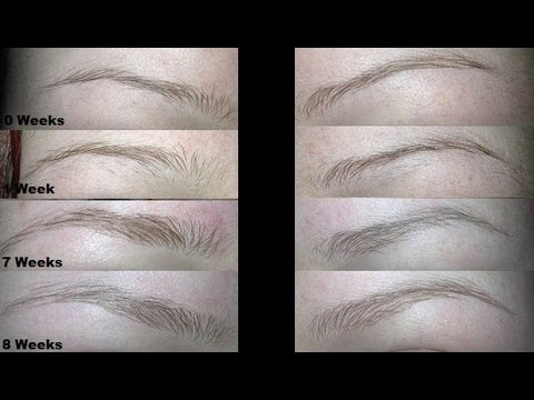 How To Quickly Grow Out Skinny Brows - YouTube