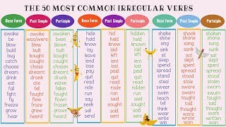 The 50 Most Common Irregular Verbs in English | Grammar & Pronunciation Lesson