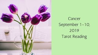 Cancer September 1-10, 2019 // Blasting Off To New Heights // Tarot Reading