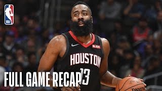 ROCKETS vs CLIPPERS | James Harden Shines In LA | April 3, 2019