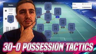 30-0 BEST FIFA 19 POSSESSION TACTIC