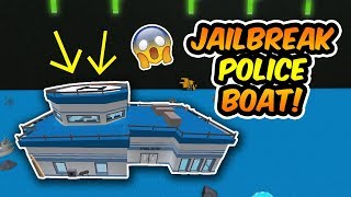 A JAILBREAK BOAT! | Build a Boat for Treasure on Roblox