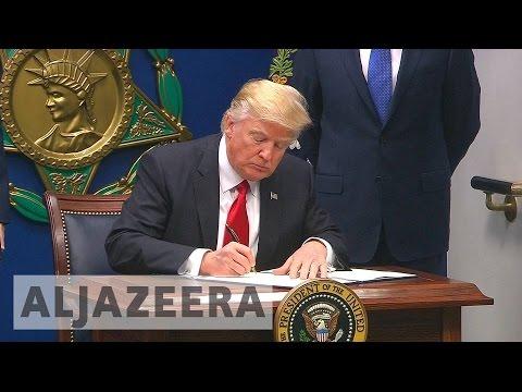 Donald Trump defends immigration ban
