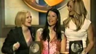 Lucy, Drew & Cameron win Blockbuster Award 2001