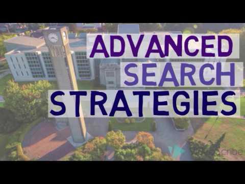 Research Skills Tutorial – Advanced Search Strategies