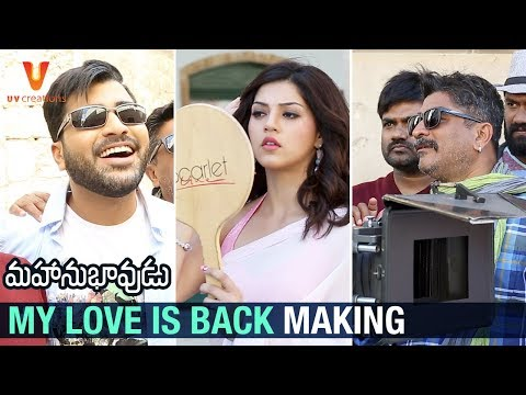 Mahanubhavudu-Movie-My-Love-Is-Back-Song-Making