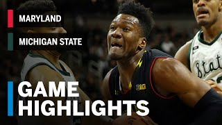 Highlights: Maryland at Michigan State | Big Ten Basketball