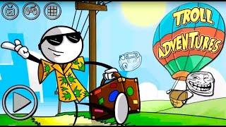 Troll Adventures All Flags secrets IOS ANDROID Gameplay Walkthrough Прохождение