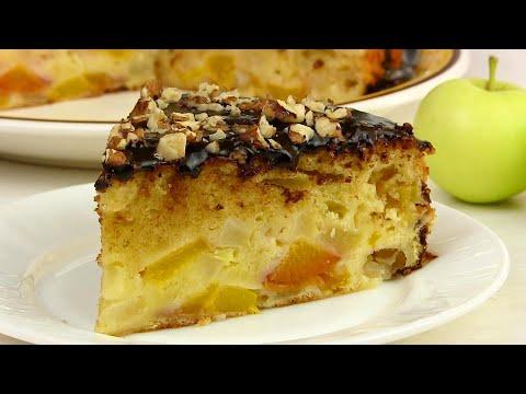 БЕЗУМНО Нежный ЯБЛОЧНЫЙ Пирог/Шарлотка с яблоками и персиками