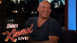 Vin Diesel & Jimmy Kimmel Bond Over Their Baby Girls