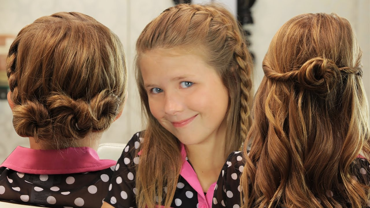 Youtube Hairstyles: 3 Quick Girls Hairstyles!!