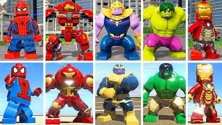 Evolution of Characters in LEGO Marvel Super Heroes 1 vs 2 (Side by Side Comparison)