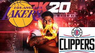 LA Lakers vs LA Clippers Full Game - The Association - NBA 2K20 Mobile