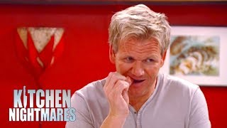 Gordon Ramsay Almost Chips His Tooth On A Duck Bone | Kitchen Nightmares