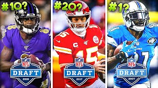Ranking The Last 20 NFL Draft Classes from WORST to FIRST