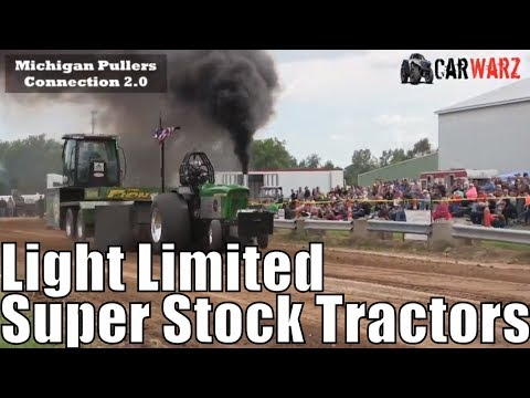 Light Limited Super Stock Tractor Class From WMP At Kent City MI 2018