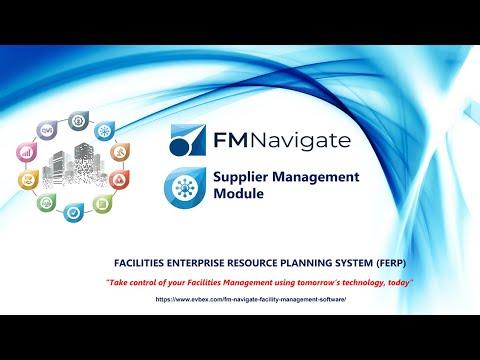 Facilities Management Software – FM Navigate – Supplier Management – Benefits & Features Video