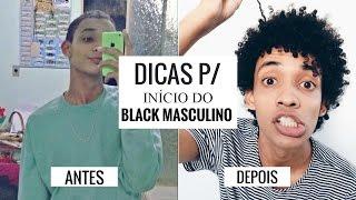 INÍCIO DO CABELO BLACK POWER MASCULINO