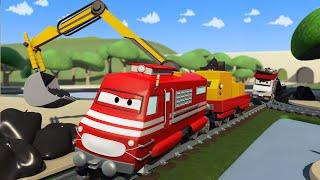 Xe lửa chở rác - xe lửa Troy 🚉 những bộ phim hoạt hình về xe tải l Vietnamese Cartoons for Kids