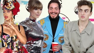 AMAs 2018 FASHION ROAST (cardi's dolce mess, taylor is a disco ball, lol @ post malone)