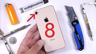 iPhone 8 Durability Test - BEND TEST - Glass Scratch Video!
