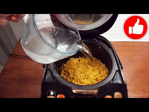 У Вас есть макароны Залейте их водой и добавьте фарш! Вкусный обед или ужин в мультиварке готов!