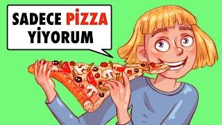 Günde 3 Öğün Sadece Pizza Yiyorum