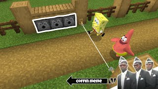Traps for Spongebob and Friends in Minecraft - Coffin Meme
